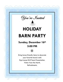 Holiday Barn Party Flyer