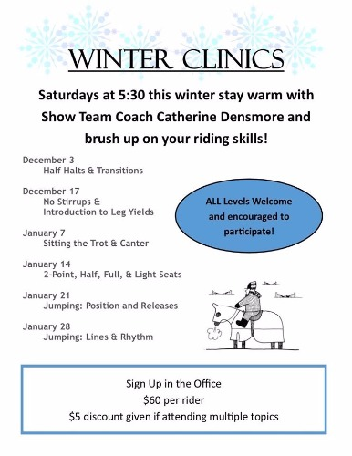 Winter Clinic Flyer